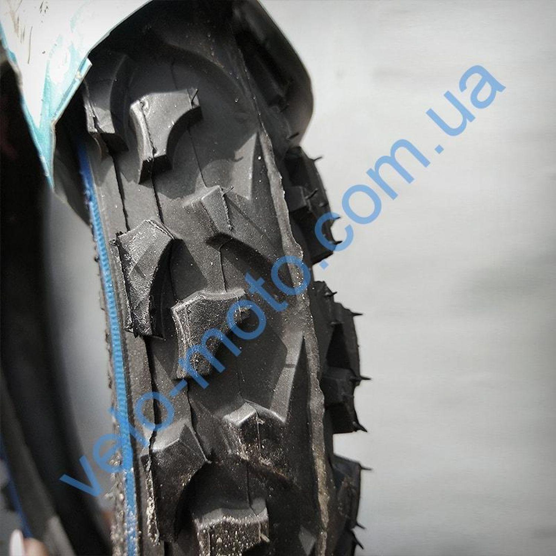 Велопокрышка 12″ Deli Tire S-186 Blue/red line