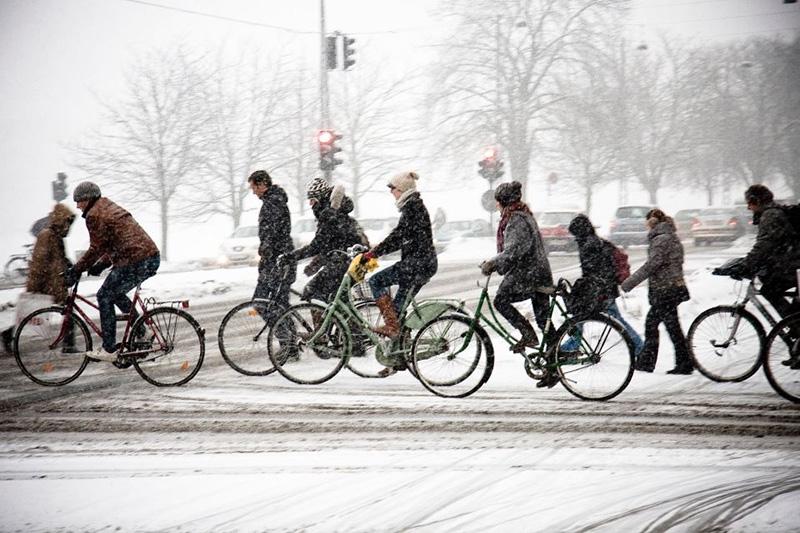 велосипед подготовка к зиме
